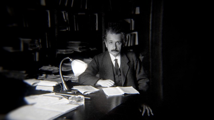 Chasing Einstein - Albert Einstein in his Berlin office in 1919